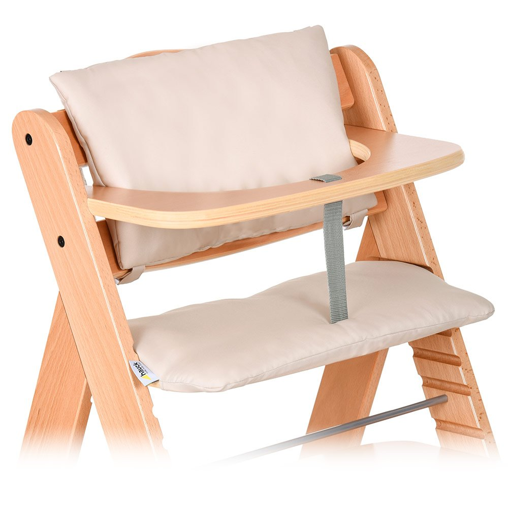 Hauck - 2pcs Deluxe High Chair Insert Cushion for Hauck Alpha/Beta / Gamma - Highchair Seat Cover | High Chair Pad | Highchair Seat Liner - Beige