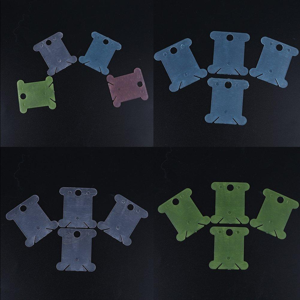 Demiawaking 110pcs Strumento di Cucito Bobine di Filo da Ricamo per Punto Croce Organizzatore Portafili
