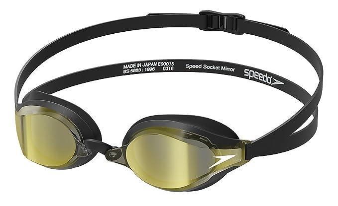 99c8fa8c2f208 Amazon.com : Speedo Speed Socket 2.0 Mirrored Swim Goggles, Curved,  Anti-Glare, Anti-Fog with UV Protection : Clothing