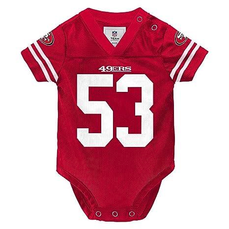 Navarro Bowman San Francisco 49ers Baby   Infant Red Onesie Jersey 3-6  Months 047e3474d