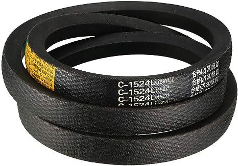 uxcell A-50 Drive V-Belt Girth 50-inch Industrial Power Rubber Transmission Belt