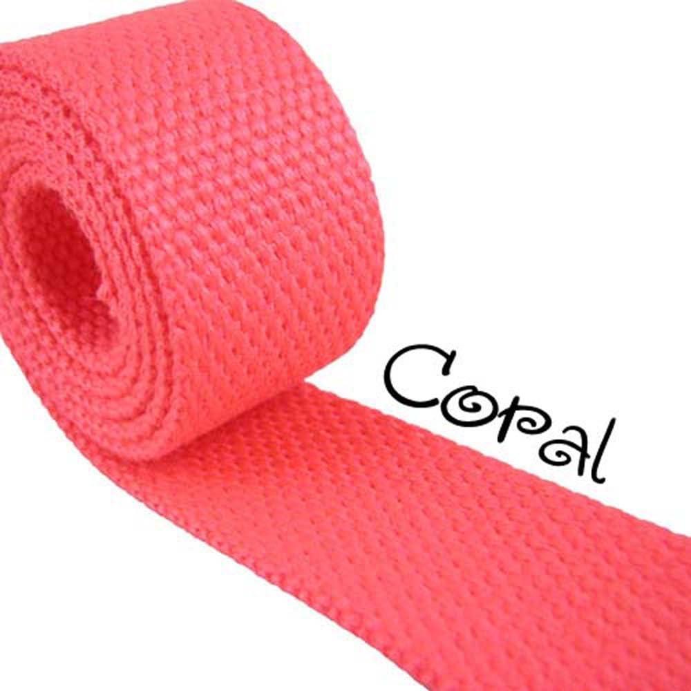 5 Yard Roll Heavy Canvas Webbing Roll 1.25 for Key Fobs Belting Purse Straps Fuchsia