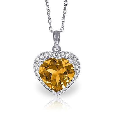 8350d601ef46d Amazon.com: ALARRI 3.24 Carat 14K Solid White Gold Necklace Natural ...