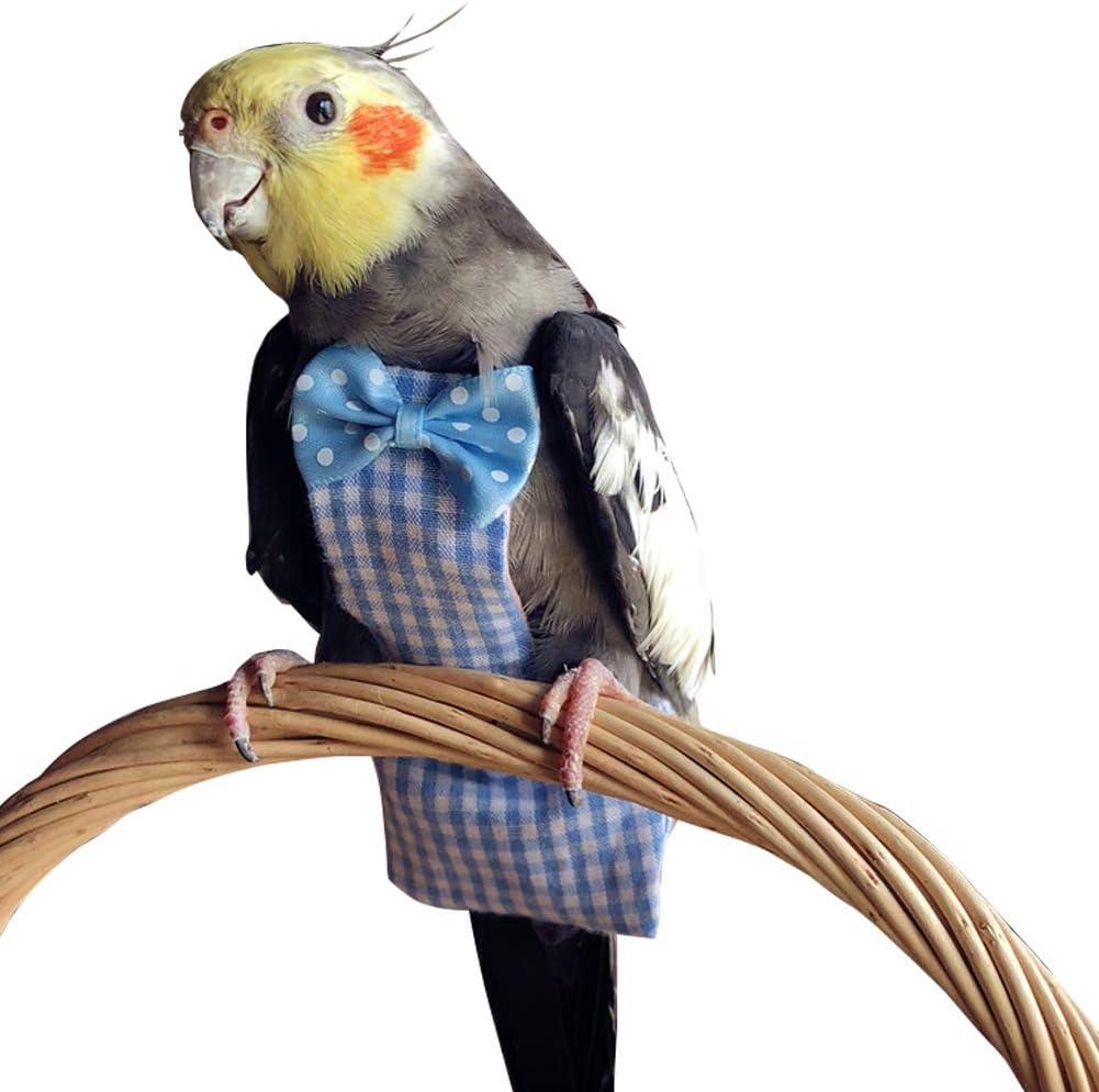Arnés de aviador loro aves mascota pájaro Traje De Seguridad /& Correa Medio