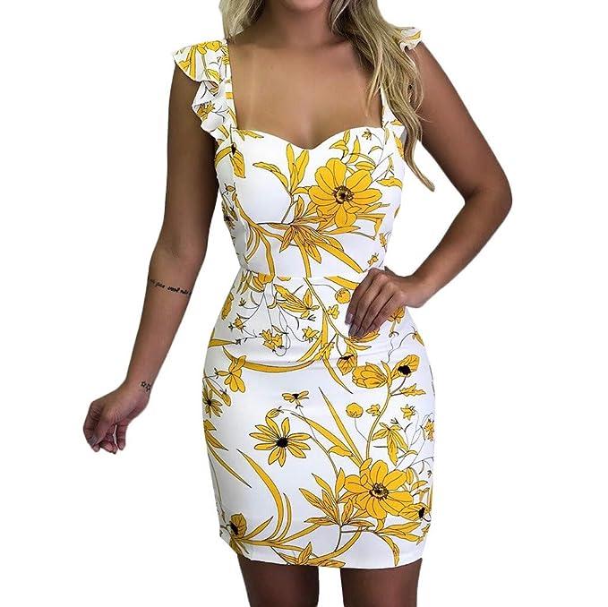 769a4304247d COOLIY Sexy Corto Vestito Wrap Dress Floreale Spiaggia Bianco Nero Donna  Elegante Mini Abito da Sposa