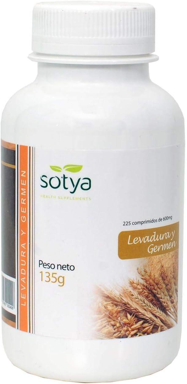 SOTYA - SOTYA Levadura de Cerveza y Germen de Trigo 225 comprimidos 600mg
