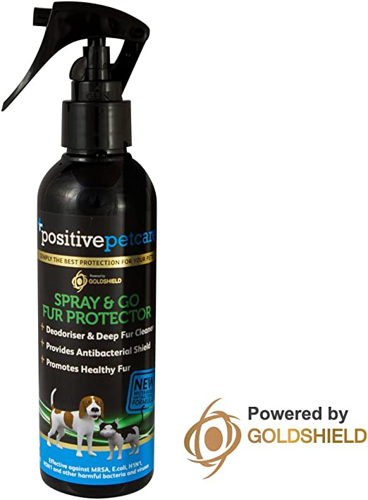 Champú en seco para mascotas Positive Petcare, 7 días, protector y acondicionador del pelaje, uso instantáneo,
