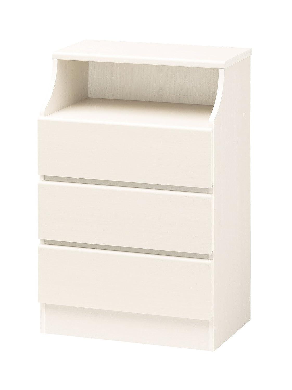 棚 タンス 収納 リビング家具 手で押し込むだけ 工具いらず 清潔 で 明るい ホワイトカラー CHESCA チェスト 高さ90.9cm ホワイト B00UBNK1KU