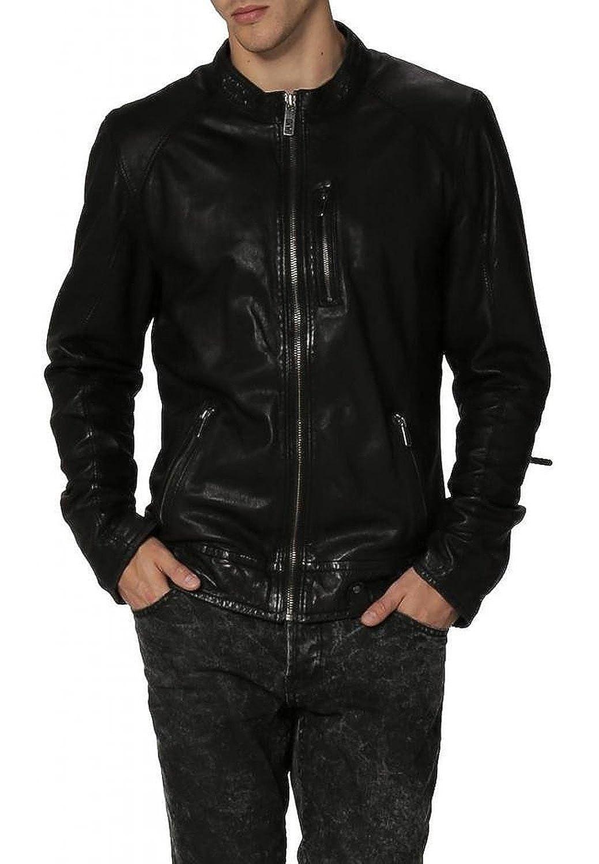 Laverapelle Men's Lambskin Real Leather Jacket Black - 1510276