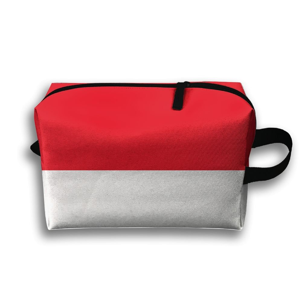 313cf00bcdf HTSS Indonesia Flag Portable Toiletry Cosmetic Bag Waterproof Makeup Make Up  Wash Organizer Zipper Storage Pouch