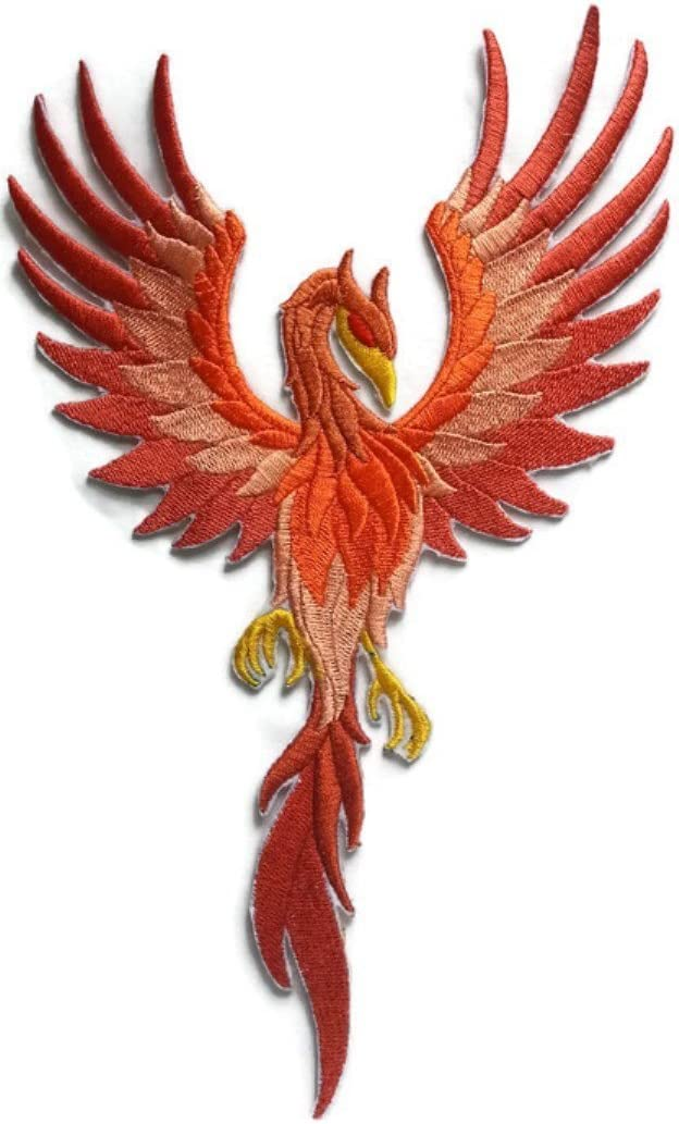 Custom Phoenix Embroidery Iron On//Sew patch Made in USA 5.94 * 9.99