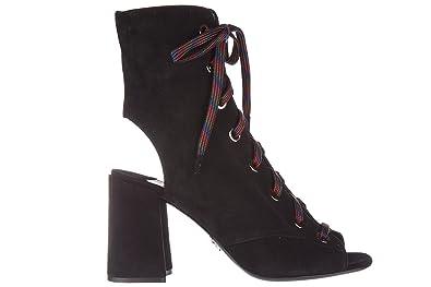 ba28cf65 Amazon.com   Prada women's suede ankle boots booties black ...