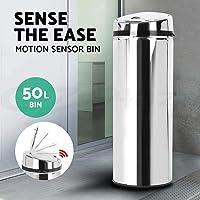 50L Stainless Steel Bin Rubbish Motion Sensor Waste Automatic Trash Kitchen