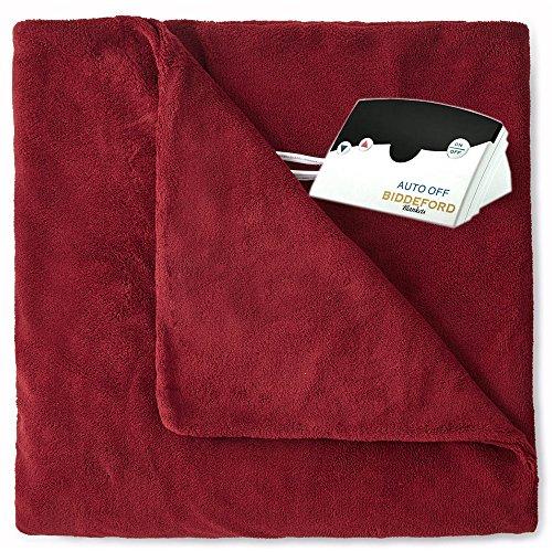 Overstock Biddeford 2031-905291-302 MicroPlush Electric Heated Blanket Full Claret