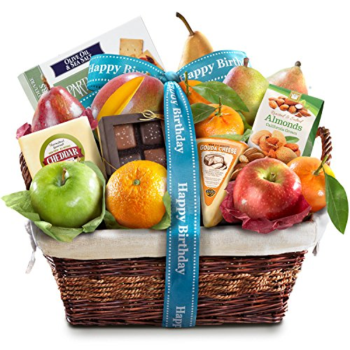 Golden State Fruit Deluxe Gift Basket, Birthday