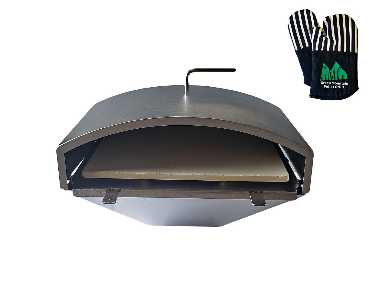 GMG Green Mountain Grill Wood Fired Pizza Oven + Free Oven Mitts by GMG