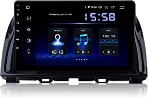 Dasaita 10.2 inch Large Screen Single Din Android 9.0 Car Stereo for Mazda CX5 2013 2014 2015 Radio with GPS Navigation 4G Ram 64G ROM Built in DSP Dash Kit Meomery Card