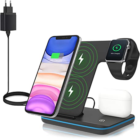 Zhike Wireless Charger 3 In 1 Qi 15w Fast Charging Elektronik