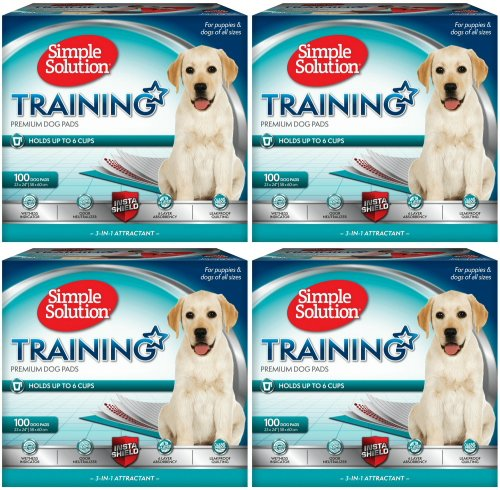 Simple Solution Original Training Pads 400 pk (4x100pk) (Simple Solution Economy Puppy Training Pads)