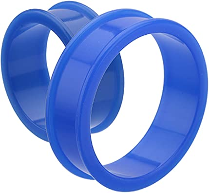 Covet Jewelry Ultra Flexible Silicone Double Flared Two-Tone Tunnel Plug