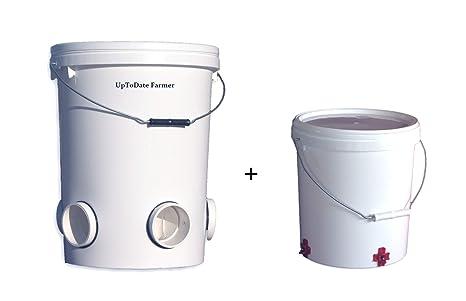 UpToDate - Comedero automático para Pollos (25 l/17 kg, 5 ...