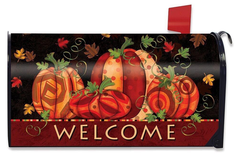 Briarwood Lane Fall Festival Pumpkin Magnetic Mailbox Cover Welcome Primitive Standard
