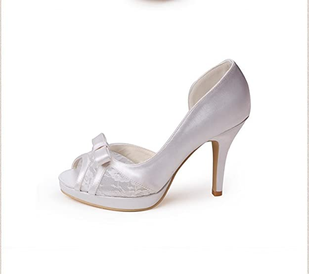 Kevin Fashion - Zapatos de boda a la moda Mujer , color Beige, talla 40 UE