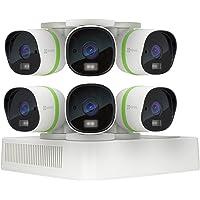 EZVIZ CRISPr TRIPLE HD 3MP Outdoor Surveillance System, 6 Weatherproof HD Security Cameras, 8 Channel 2TB DVR Storage, 100ft EXIR Night Vision, Customizable Motion Detection Zones