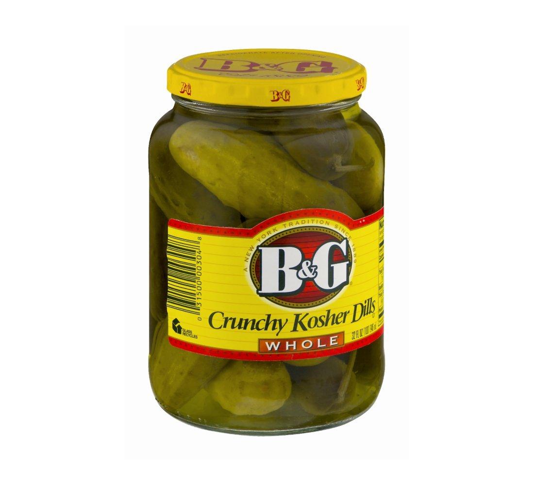B&G Crunchy Kosher Dills Whole 32 Oz. Pk Of 12.