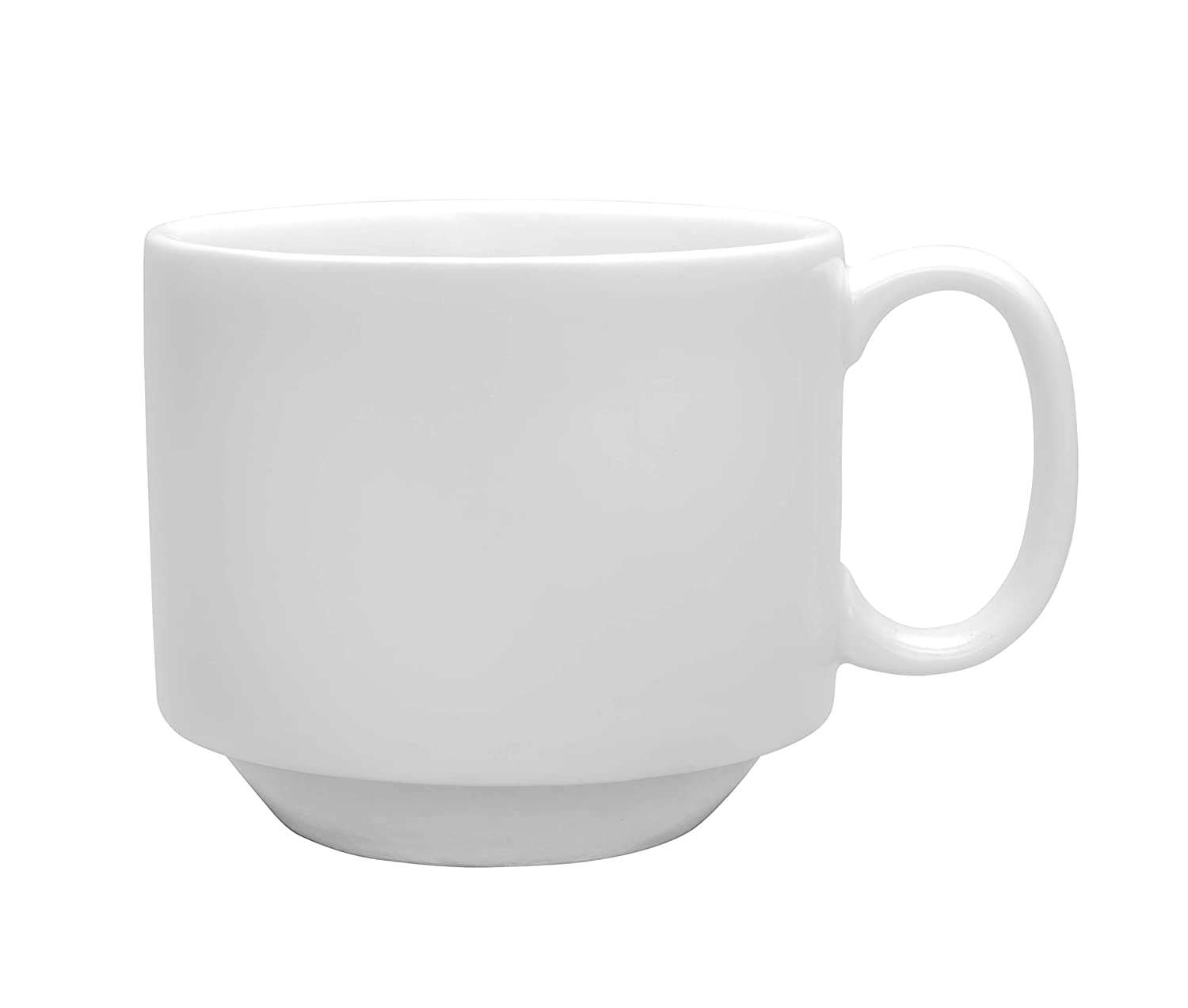 Chef Expressions 9-ounce Stackable Cup, Restaurant Quality, Vitrified Bright White Porcelain, C-Handle (Case of 12)