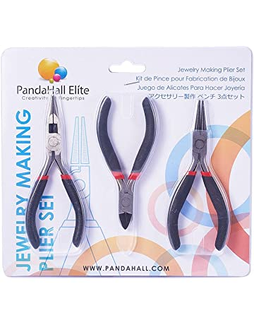 Juegos de herramientas de DIY joyeria de acero, pulido alicates de corte lateral, alicates