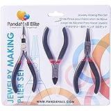 Pandahall 3 Teiliges DIY Schmuck Werkzeug Scheren Sets für Perlenarbeit, Polierter Seitenschneider, Drahtschneider Zangen Rundzange Schwarz