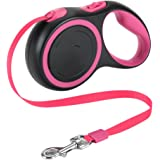 SlowTon Retractable Dog Leash, 16ft Walking Jogging Training Leash Polyester Tape Small Medium Dog up to 44lbs Hand Grip…