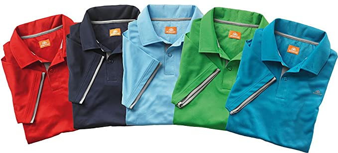 Nordcap Poloshirts   Funktionsshirts, 5er Pack hochwertige Herren  Kurzarm-Polos (Größen  M 268717245b