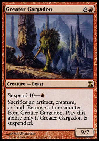 Magic: the Gathering - Greater Gargadon - Time Spiral