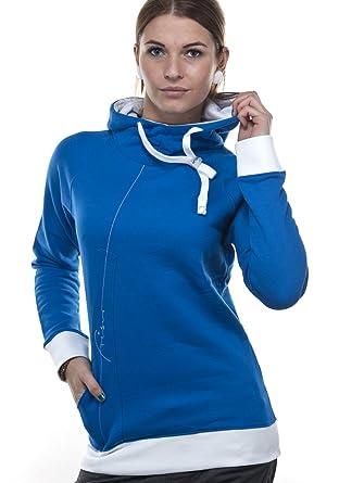 Frisur Clothing Female Hoodie Bronca Imperial Blue White S Amazon