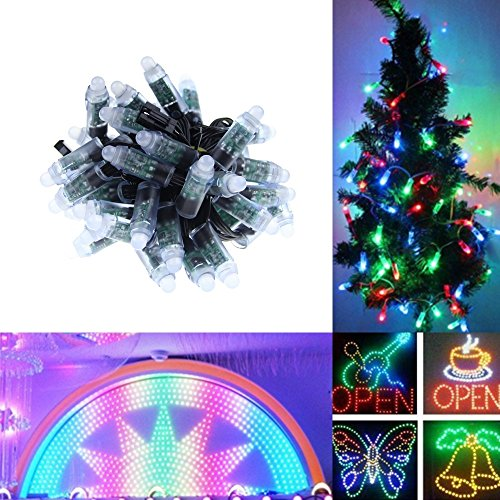 Alarmpore (TM) 500-Pack 500pcs Black Wire WS2811 LED Pixel Digital Full Color Character String Led Light Individual Addressable 12mm Round RGB Light P68 Waterproof 5V (5V Round) by Alarmpore
