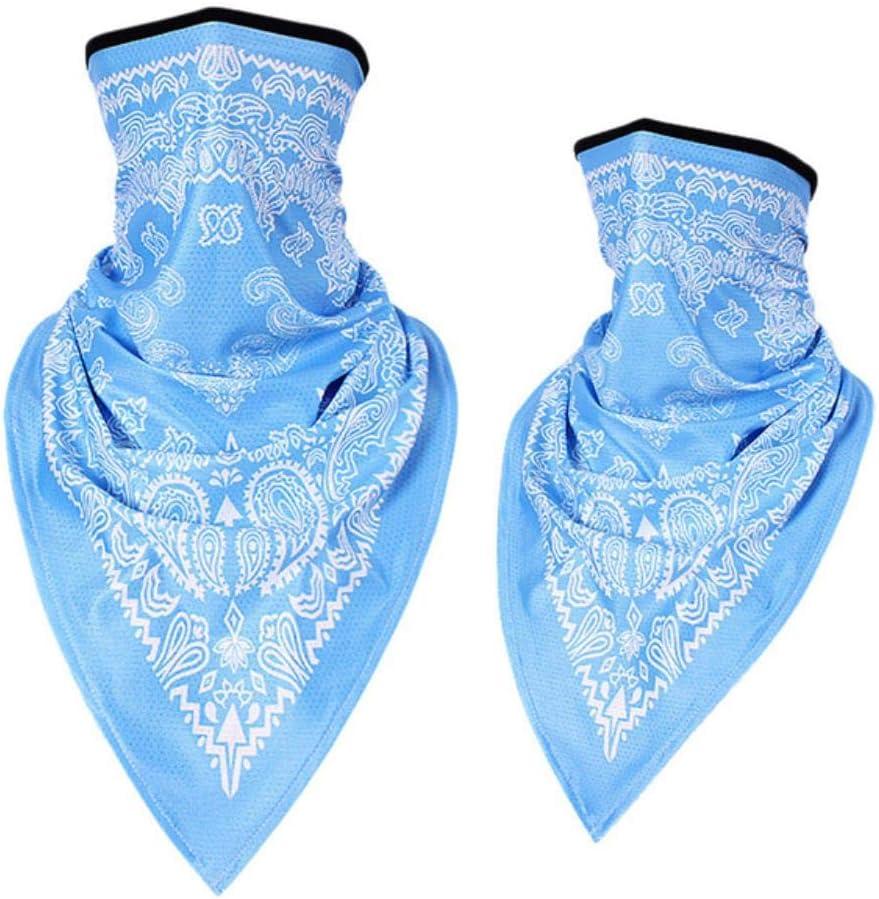 WLAP Bandanas para Hombre Mujer Escalada de montaña Pañuelo en la Cabeza Bufandas de Deporte al Aire Libre Toalla de Bolsillo Mascarilla Pañuelo, Azul Claro, Estados Unidos