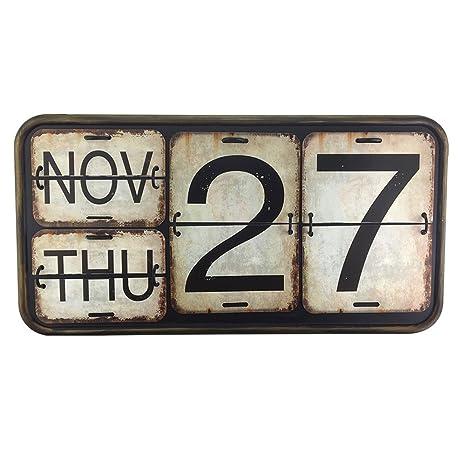 Calendario Perpetuo Da Parete.Calendario Calendario Perpetuo In Metallo E Ferro Da Parete