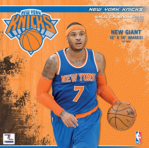 "Turner New York Knicks 2016 Team Wall Calendar, September 2015 - December 2016, 12 x 12"" (8011888)"