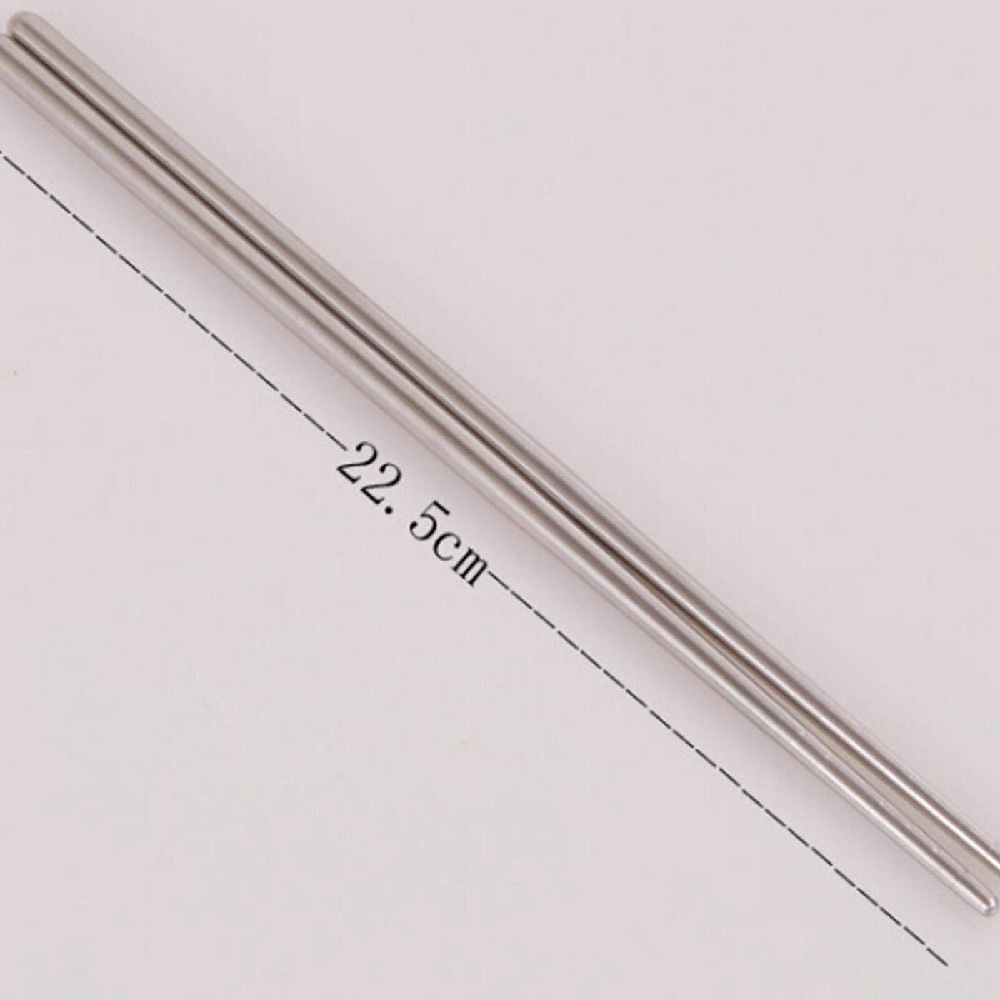 None 5 pairs of stainless steel chopsticks dfgjdryt Upgraded 5 Pair Stainless Steel Chopsticks Chinese Japanese Restaurant Chopsticks Set
