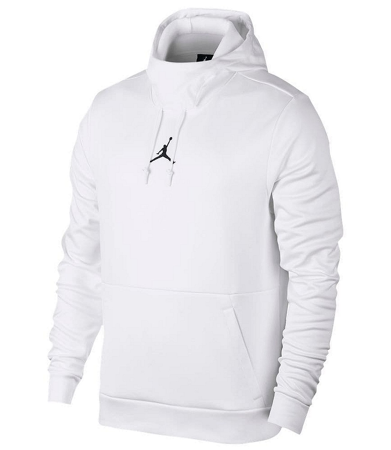 NIKE Mens Jordan Therma 23 Training Pull Over Hoodie White/Black 861559-100 Size Large