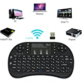 Mobipro Rii i8+ Mini(Backlit) Wireless Keyboard and Mouse(Touchpad) with Smart Function for Android TV Box, Raspberry-Pi, Android Tablet (Black)