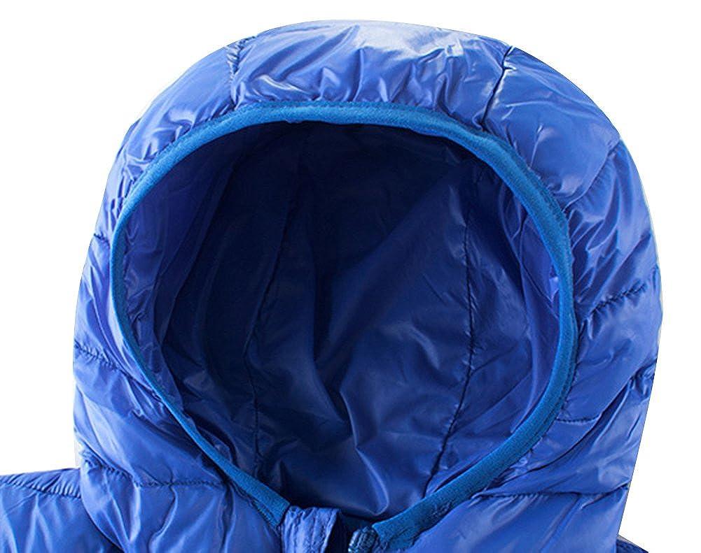 KISBINI Boys Windproof Lightweight Hoodie Jacket Warm Coat