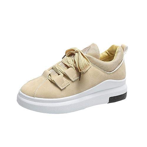 9860f05d5d976 GiveKoiu Scarpe da Ginnastica Donna Interna Alte Sneakers Scarpe con Zeppa  Scarpe Sportive a Tacco Inclinato