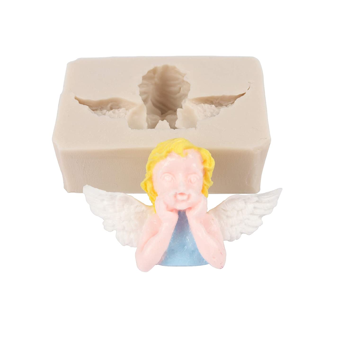 Fondant Angels Mold Fondant Cake Silicone Molds Chocolate Cake Sugarcraft Tools Soap Polymer Clay Moulds 2 angel