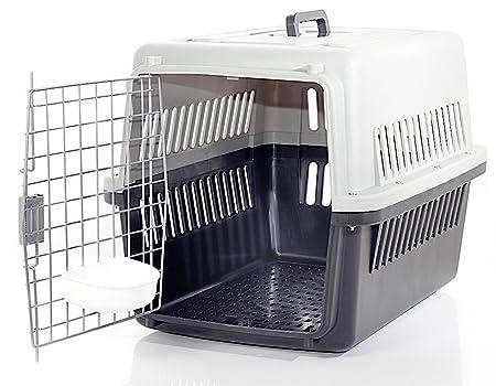 Transportín para perro y gato - IATA de viaje transporte coche homologado 66 x 47 x 53 cm 66x47x53 Nero/Panna: Amazon.es: Coche y moto