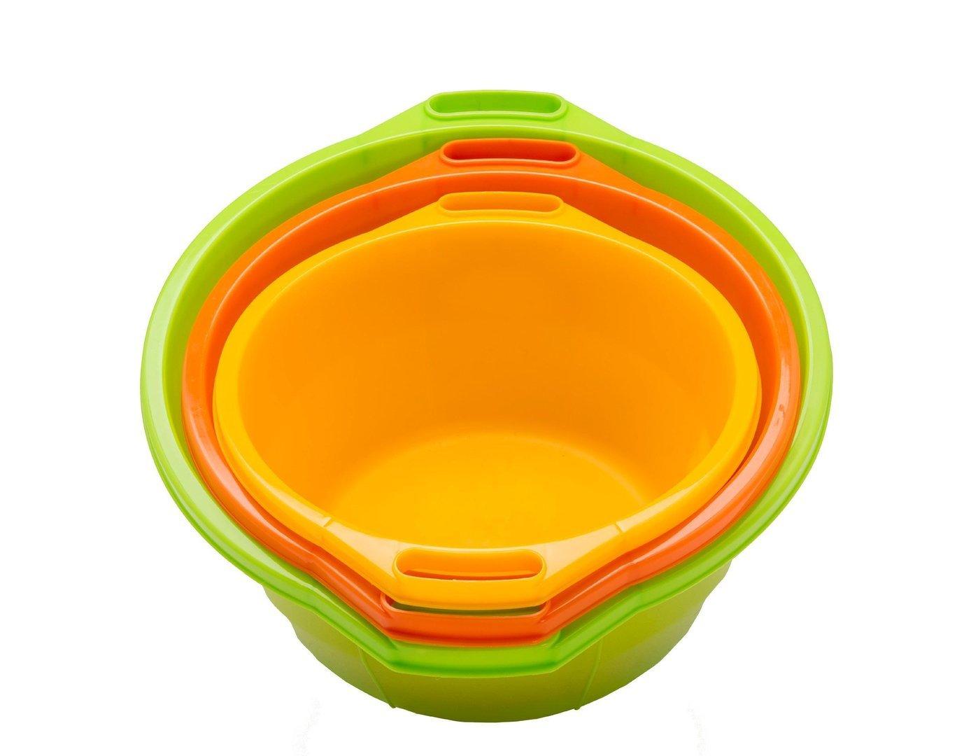 Tosend Servizi sas Bacinella tonda in polietilene dal diametro di 45 cm (lt. 23) – vari colori misure cm 45 x 50 x 21 h