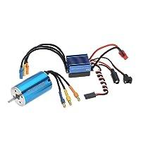 Ecelledge 2845 3100KV 4P Sensorless Brushless Motor & 35A Brushless ESC Electronic Speed Controller for 1/14 1/16 1/18 RC Ca