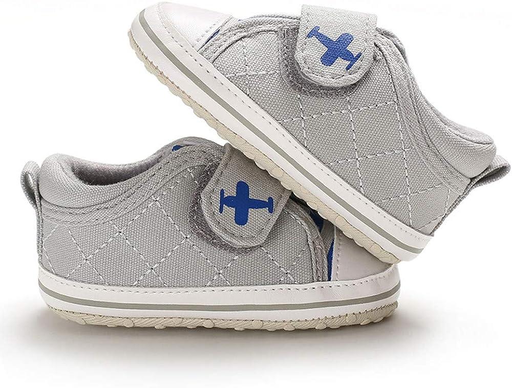 HukezhuBaby Chaussures de Premiers Pas pour b/éb/é en Toile antid/érapante avec Autocollant Magique